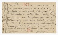 [92 lettres de Henri Duparc, Ellie Duparc, Amédée Blondel, Auguste et William Sériyex à Jean et Isaure Cras, [1900]-1933] (manuscrit autographe)