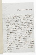 Lettre de Camille Pleyel au baron de Trémont, Paris, 22 août 1834 (manuscrit autographe)