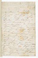 """Lettre de Camille Pleyel à """"mon bon Schott"""",[Bruxelles], mercredi matin [ca 1845-1846] (manuscrit autographe)"""