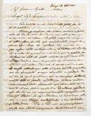 Lettre de Luigi Casamorata à Giovanni Ricordi, Florence, 23 décembre 1845 (manuscrit autographe)