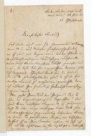 """Lettre de Hans von Bülow à un """"ami"""", Baden-Baden, 30 juin 1873 (manuscrit autographe)"""