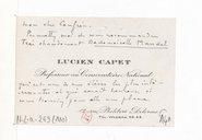 [Carte de visite de Lucien Capet à André Caplet, non datée (ca 1922)] (manuscrit autographe)