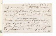 [Lettre de Constantin Meunier à Chabrier, (sans date)] (manuscrit autographe)