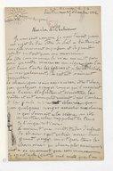 [Lettre de Charles Meunier à Emmanuel Chabrier, Seville, 27 décembre 1882] (manuscrit autographe)