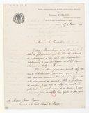 [Lettre de Théodore Michaelis à Raymond Bussine, Paris, 17 mars 1881] (manuscrit autographe)