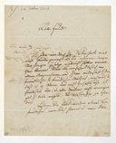 [Lettre de Gottfried Weber à Monsieur Ferdinand Gassner, 10 (mois?) 1830] (manuscrit autographe)