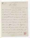 [Lettre autographe signée de Giuseppina Verdi adressée à Escudier] (manuscrit autographe)