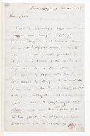 [Lettre autographe signée de Giuseppe Verdi à Escudier, Cauterets, 20 juillet (août) 1866] (manuscrit autographe)
