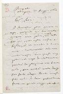 [Lettre autographe signée de Giuseppe Verdi adressée à Escudier, Busseto, Sant'Agata, 31 mai 1864] (manuscrit autographe)
