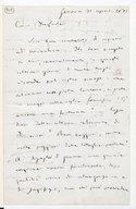 [Lettre autographe signée de Giuseppe Verdi adressée à Du Locle, Gênes, 21 avril 1871] (manuscrit autographe)