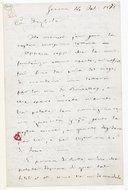 [Lettre autographe signée de Giuseppe Verdi adressée à Du Locle, Gênes, 14 février 1871] (manuscrit autographe)