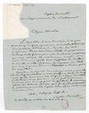 [Lettre autographe signée de Sophie Arnould à Alleaume au Ministre de l'Intérieur, 19 ventôse an 8 (10 mars 1800)] (manuscrit autographe)