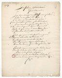 Sophie abandonnée (manuscrit autographe)