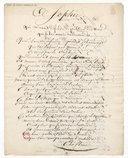 A Sophie qui m'avait défendu de publier des vers que je lui avais adressés (manuscrit autographe)