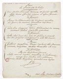 Pour le portrait de Lully (manuscrit autographe)