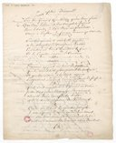 A Sophie Arnould. Quatrain destiné à être placé au bas du buste de Mademoiselle Arnould et composé par Monsieur André de Murville (manuscrit autographe)