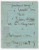 [Lettre autographe signée de Jules Massenet à Marcel Journet, Paris, 13 décembre 1911] (manuscrit autographe)