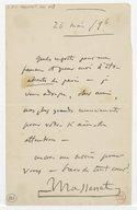 14 lettres autogr. à Francis Thomé (manuscrit autographe)