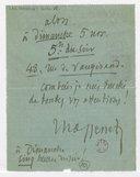 [Lettre autographe signée de Jules Massenet à Marcel Journet, Paris] (manuscrit autographe)
