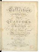 Collection complette des quatuors d'Haydn dédiée au premier consul Bonaparte