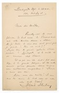 [Lettre de Jenö Hubay à Jules Massenet, 1891] (photocopie)