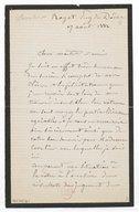 [2 lettres de Pierre-Jules Cavelier à Jules Massenet, 1882 et 1889] (manuscrit autographe)
