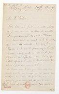 [Lettre de Th. Gouvy à Théodore Dubois, Leipzig, 26 mars 1892] (manuscrit autographe)