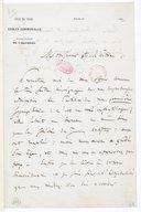 [Lettre de Charles Gounod à Monsieur Fétis, (sans date)] (manuscrit autographe)