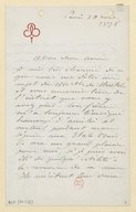 [Lettre d'Auguste Bartholdi à Jean Lassalle, Paris, 20 mars 1878] (manuscrit autographe)