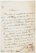 [Lettre autographe signée de Paul Barroilhet à Messieurs Tenar et Cannis, 13 mai 1842] (manuscrit autographe)