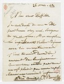 [Lettre autographe signée de Paul Barroilhet à Laffitte, 26 mai 1842] (manuscrit autographe)