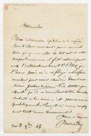 [Lettre autographe signée de Paul Barroilhet à Mademoiselle (?), 6 novembre 1846] (manuscrit autographe)