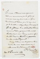 [Lettre autographe signée de Paul Barroilhet à Madame (?), 5 janvier 1844] (manuscrit autographe)