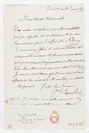 [Lettre autographe signée de Paul Barroilhet à Messieurs Tenar et Cannis, Paris, 30 janvier 1844] (manuscrit autographe)