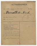 [Lettre autographe signée de Paul Barroilhet (sans lieu), 14 octobre 1859] (manuscrit autographe)