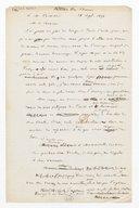 [Brouillon de lettre de François Bazin à Monsieur Cormon, 18 septembre 1873] (manuscrit autographe)