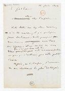 [Brouillon de lettre de François Bazin à Gerôme, 14 juin 1873] (manuscrit autographe)