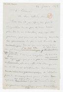 [Brouillon de lettre de François Bazin à Cormon, 22 février 1873] (manuscrit autographe)
