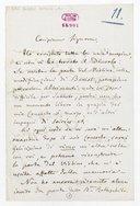 [Lettre autographe signée d'Antonio Bazzini à Pauline Viardot, 27 février (année?)] (manuscrit autographe)