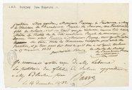 [Lettre autographe signée de Jean-Baptiste Blache à Leborne, 27 novembre 1832] (manuscrit autographe)