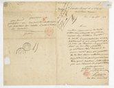 [Lettre de Pamphiles Leopold Francois Aimon à Monsieur le Secrétaire, 24 novembre 1843] (manuscrit autographe)