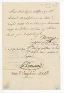 [Un Certificat, 19 septembre 1831] (manuscrit autographe)
