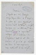 [Lettre de Benjamin Godard à Monsieur xxx, 6 Avril 1873] (manuscrit autographe)