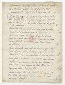 [Mémoire pour nettoyage de voiture par Verniquet, 21 Février 1775] (manuscrit autographe)