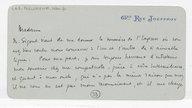 [Lettre autographe signée de Léon Boellmann à Louise Schwab, Paris, 15 janvier 1894] (manuscrit autographe)
