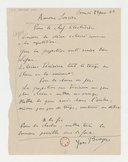 [Note d'Yves Brayer au chef électricien, Paris, 23 janvier 1942] (manuscrit autographe)