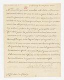 [Lettre autographe signée de Louis de Bourbon, Comte de Clermont, 1709-1771, au Duc de Fleury, Berny, 10 juin 1752] (manuscrit autographe)
