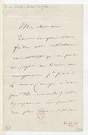 [Lettre de Camille Saint-Saëns à Leon Boellmann, Paris, 15 novembre 1894] (manuscrit autographe)