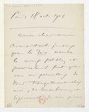 [Lettre de Camille Saint-Saëns à Théodore Dubois, Paris, 18 octobre 1904] (manuscrit autographe)