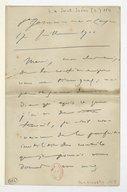 [Lettre de Camille Saint-Saëns à Florent Schmitt, St Germain en Laye, 17 juillet 1900] (manuscrit autographe)